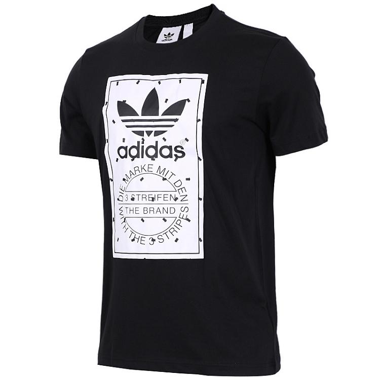 Adidas 三叶草 男装 短袖T恤 LABEL TEE 三叶草 CZ1761
