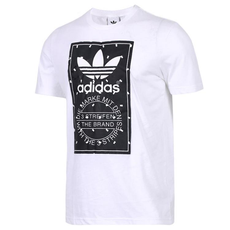 Adidas 三叶草 男装 短袖T恤 LABEL TEE 三叶草 CZ1763