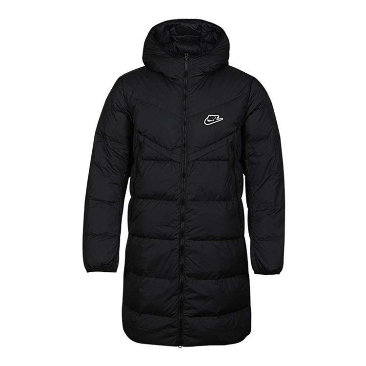 Nike 耐克 男装 休闲 长款羽绒服 运动生活HOODED JACKET CU4409-010