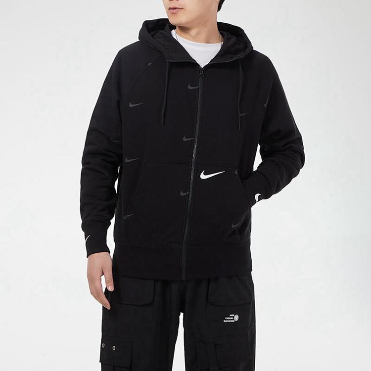 Nike 耐克 男装 休闲 针织夹克 运动生活HOODED FULL ZIP LS TOP DA0083-010